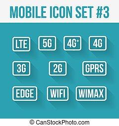10, móvel, símbolo., tecnologia, telecomunicações, signs.