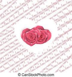 10, miłość, próbka, -, eps, nuta, hearts., tekst, karta