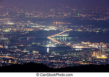 10 million dollars night view. KOBE. JAPAN