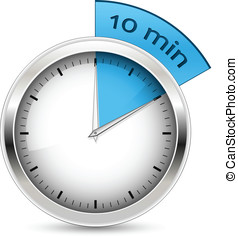10 minutes. Timer vector illustration. - 10 minutes. Timer....