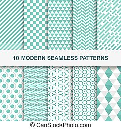 10 Modern seamless geometric patterns