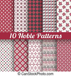 Noble elegant vector seamless patterns (tiling) - 10 Noble...