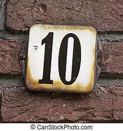 10, nombre