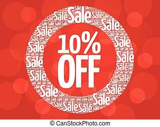10% OFF circle stamp