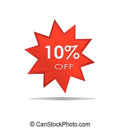 10% OFF Sale Discount Banner Special offer Isolated Background