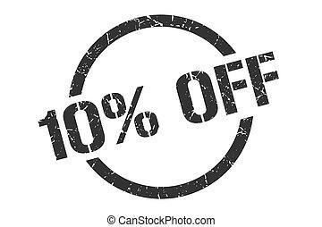 10% off stamp