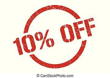 10% off stamp