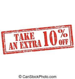 10%, off-stamp, extra, nemen
