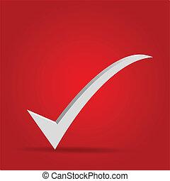 10, ok, -, freigestellt, markierung, vektor, eps, rotes , ikone