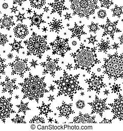 10, pattern., eps, flocons neige, seamless