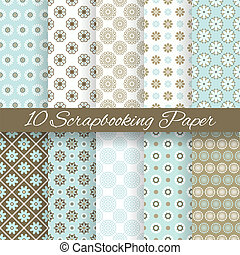 Pattern papers for scrapbook (tiling). - 10 Pattern papers ...