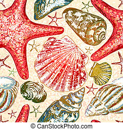 10, pattern., seamless, eps, ベクトル, 海