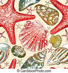 10, pattern., seamless, eps, vektor, tenger