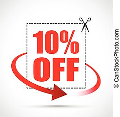 10 per cent off red