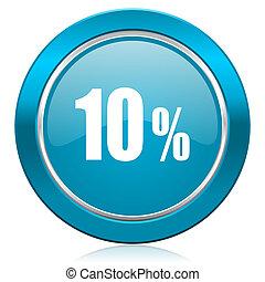 10 percent blue icon sale sign