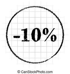 10 percent discount icon