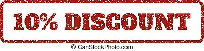 10 Percent Discount Rubber Stamp