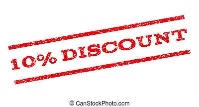 10 Percent Discount Watermark Stamp