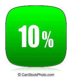 10 percent green icon