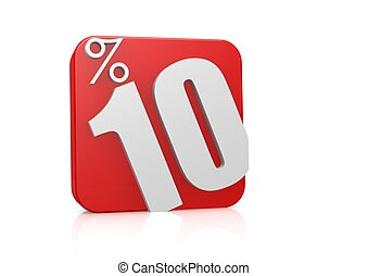 10 percent in cube - Rendered artwork with white background