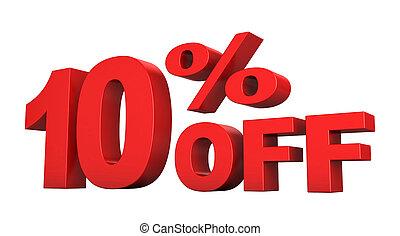 10 Percent Off - 3d render of 10 percent off sale text...