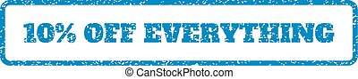 10 Percent Off Everything Rubber Stamp
