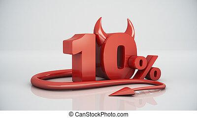 10 percent red devil