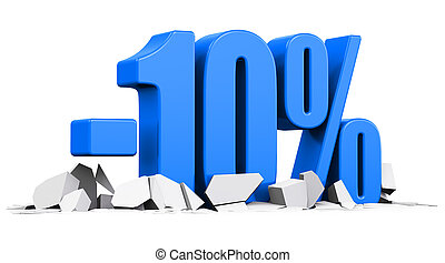10 percent sale and discount advertisement concept