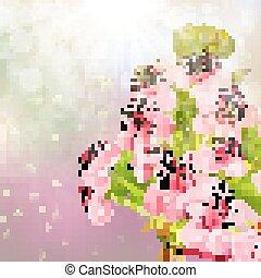 10, pomme, sky., arbre, eps, contre, fleurir