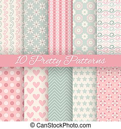 Pretty pastel vector seamless patterns