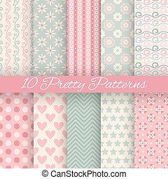 Pretty pastel vector seamless patterns