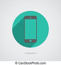 10, réaliste, mobile, écran, isolé, eps, téléphone, vecteur, noir, arrière-plan., vide, blanc