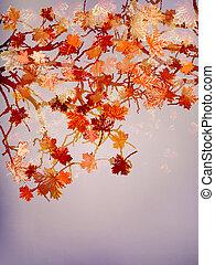10, résumé, arbre, eps, automne, arrière-plan.