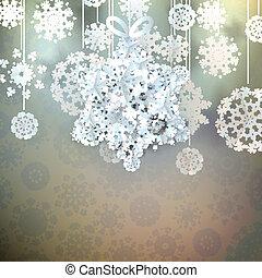 10, robiony, gwiazda, snowflakes., eps, boże narodzenie