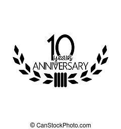 10, rocznica, lata