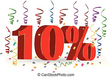 10% Sale discount holidays sign