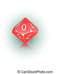 10-sided Die - An abstract vector illustration of a 10-sided...