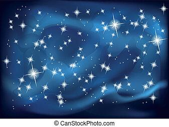 10, sky., eps, illustration, vecteur, nuit