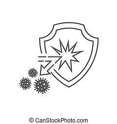 10., skydd, angrepp, antibacterial, begrepp, immun, viruses., system, vektor, skydda, eps, medicinsk, bakterie, avspegla, bakgrund., vit, health., isolerat, illustration
