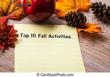 10, sommet, automne, activités