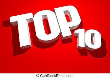 10, sommet