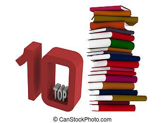 10, sommet, livres