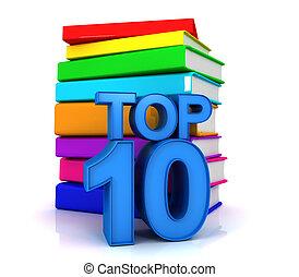 10, sommet, livres, mieux