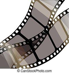 10, stile, set, .vector, illustrazione, vettore, eps.stampunk, striscie, film