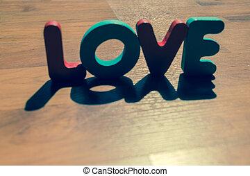 10, style, amour, plancher, bois, laminate, ombre, mot, ombre