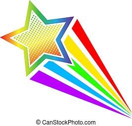 10, style, art, coloré, illustration, gradient., eps, pop, vecteur, retro, étoile, comique, tir, dessin animé