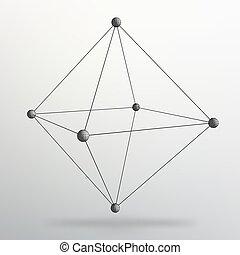 10, style, concept, lattice., illustration., eps, résumé, shapes., business., créatif, brochure, vecteur, conception, fond, polygons., grille, géométrique, moléculaire, en-tête lettre, structural