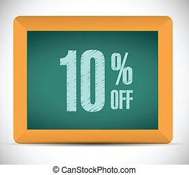 10, százalék, ábra, diszkont, tervezés, üzenet