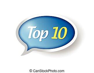 10, tető, ábra, tervezés, üzenet, buborék