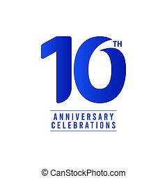 10 Th Anniversary Celebrations Vector Template Design Illustration